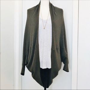 Mossimo Olive Green Slouchy Sweater Shrug
